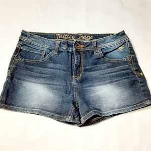 Girl's Justice Premium Blue Jean Shorts 14 1/2